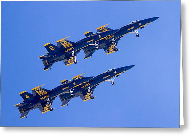 The Blue Angels In Action 3 Greeting Card