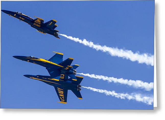 The Blue Angels In Action 5 Greeting Card