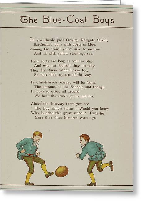 The Blue-coat Boys Greeting Card by British Library