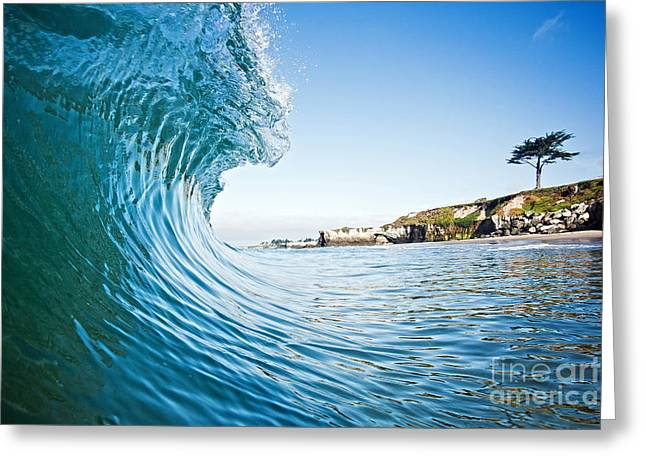 Greeting Card featuring the photograph The Blue Curl by Paul Topp