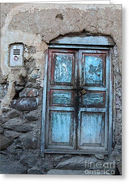 The Blue Door 1 Greeting Card