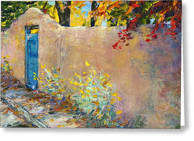 The Blue Door Greeting Card by Steven Boone