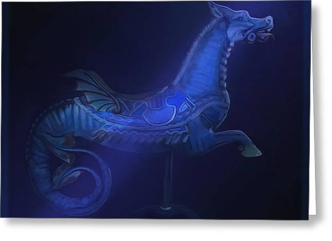 The Blue Dragon Greeting Card by Hazel Billingsley