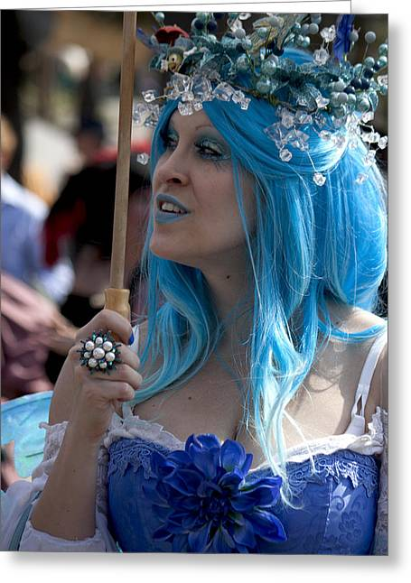 The Blue Lady Greeting Card by Ivete Basso Photography
