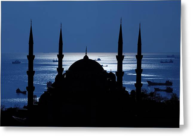 The Blue Mosque Greeting Card by Ayhan Altun