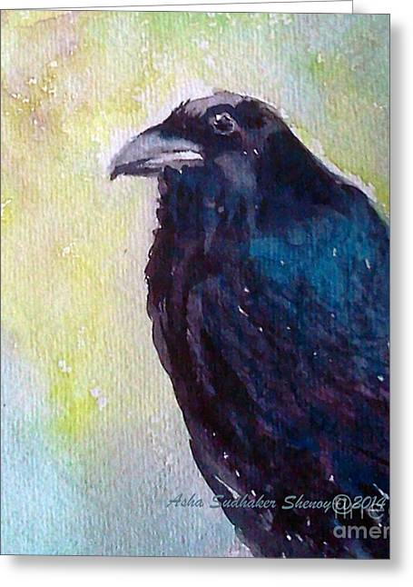The Blue Raven Greeting Card