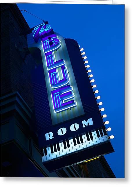 The Blue Room Jazz Club, 18th & Vine Greeting Card by Panoramic Images