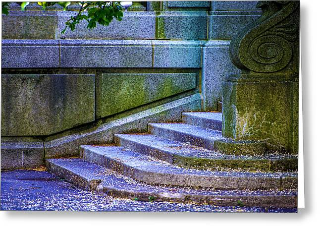 The Blue Stairs Greeting Card