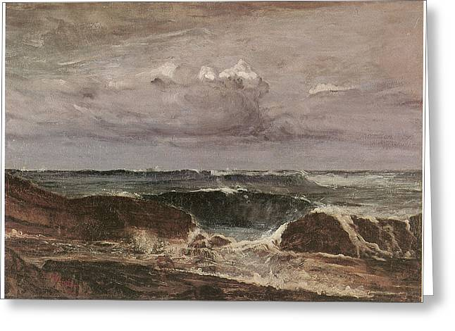 The Blue Wave Biarritz Greeting Card by James Abbott McNeill Whistler