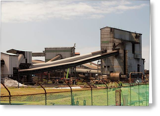 The Bluescope Steel Works Greeting Card by Ashley Cooper
