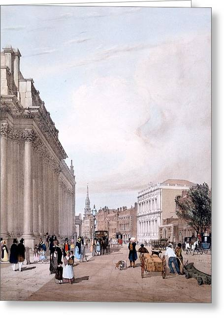The Board Of Trade, Whitehall Greeting Card by Thomas Shotter Boys