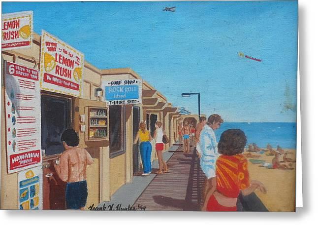 The Boardwalk At Daytona Beach Greeting Card