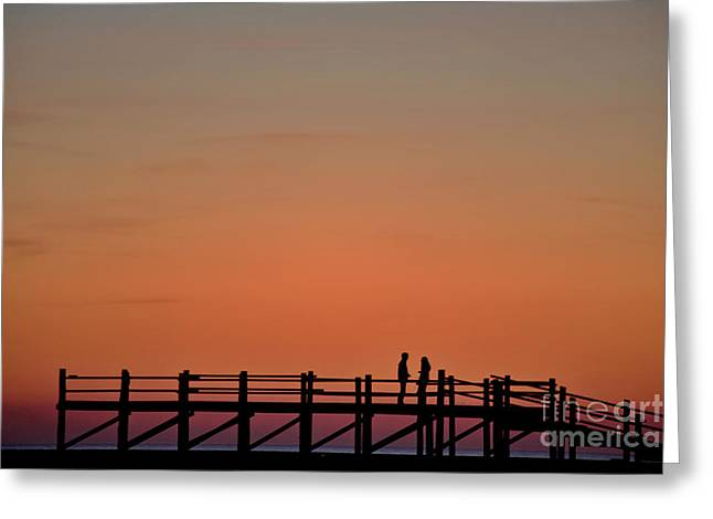 The Boardwalk Greeting Card by Heiko Koehrer-Wagner