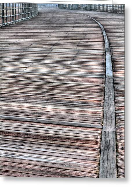 The Boardwalk II Greeting Card by JC Findley