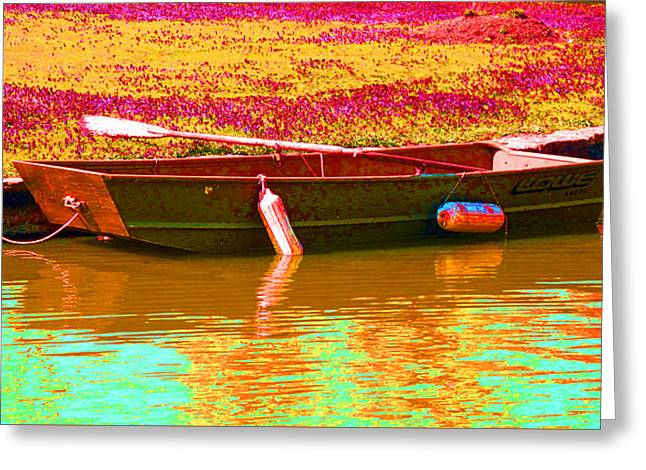 The Boat Greeting Card by Barbara McDevitt