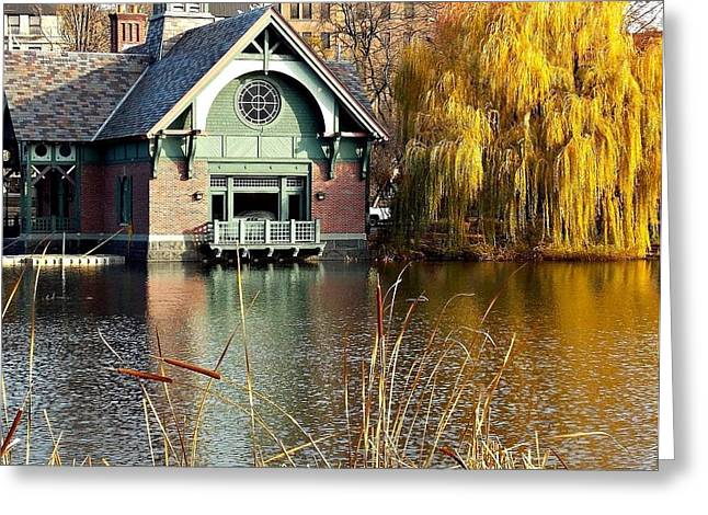 The Boat House Greeting Card by Marvin Washington