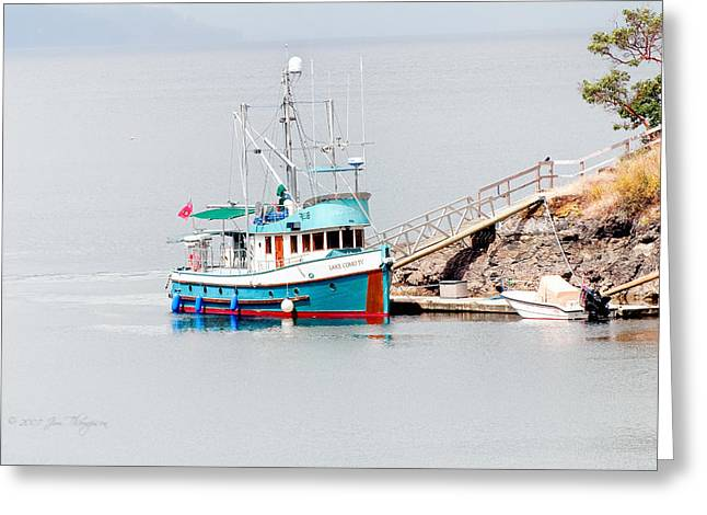 Greeting Card featuring the photograph The Boat by Jim Thompson