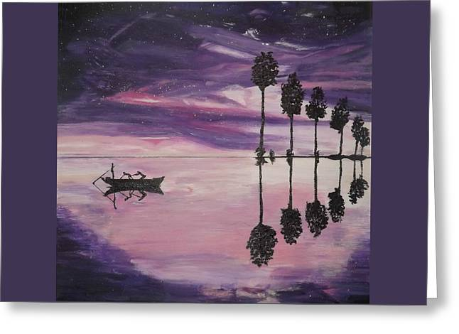 The Boaters Greeting Card by Denise Morgan