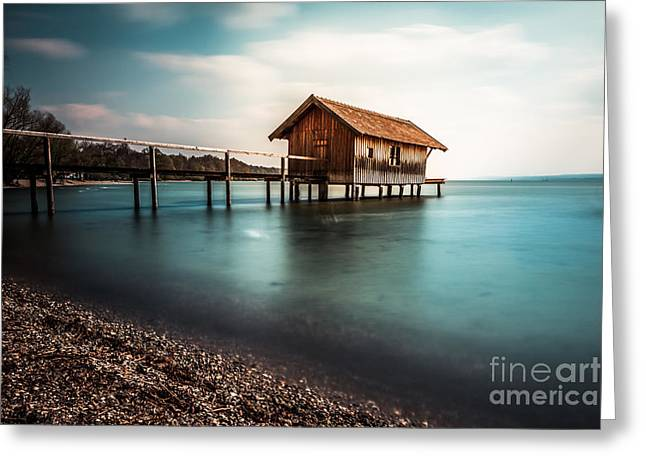 The Boats House II Greeting Card by Hannes Cmarits