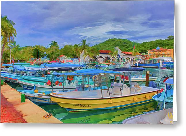 The Boats Of Hautulco Greeting Card