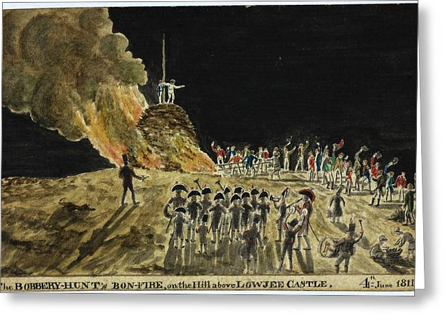 The Bobbery Hunt's Bonfire Greeting Card by British Library