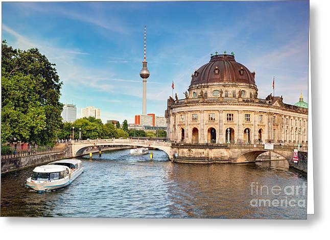 The Bode Museum Berlin Germany Greeting Card by Michal Bednarek