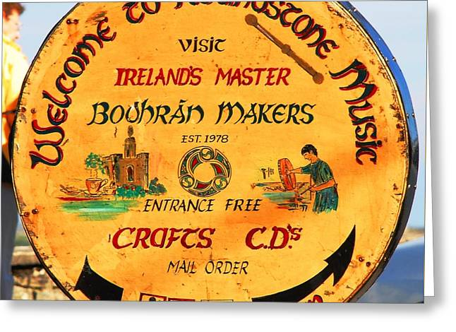 The Bodhran Makers Greeting Card