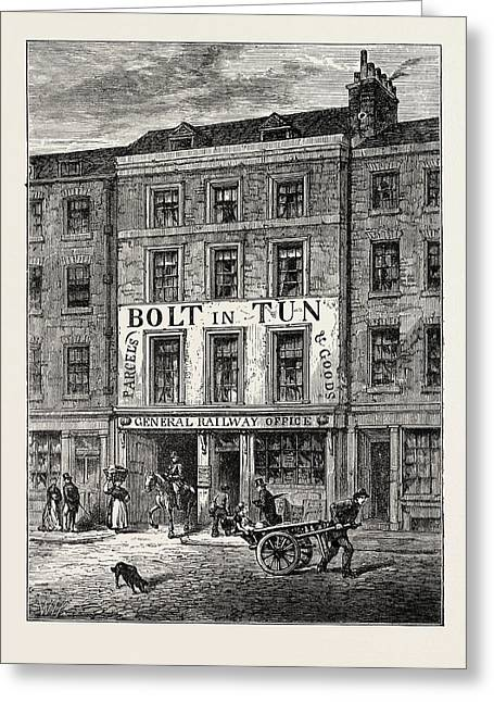 The Bolt-in-tun 1859 London Greeting Card by English School
