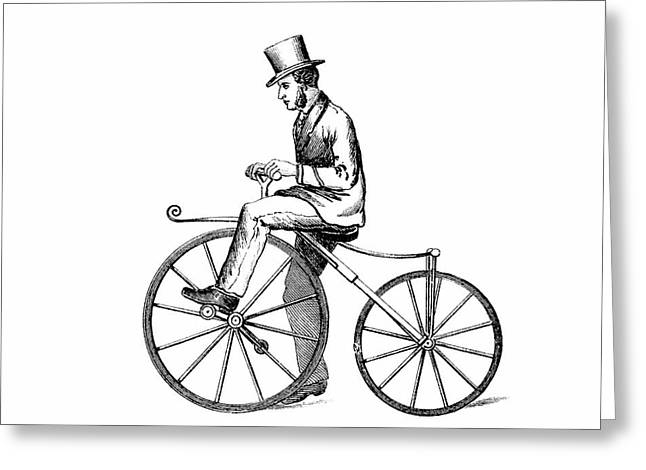 The Boneshaker Bicycle Greeting Card by Universal History Archive/uig
