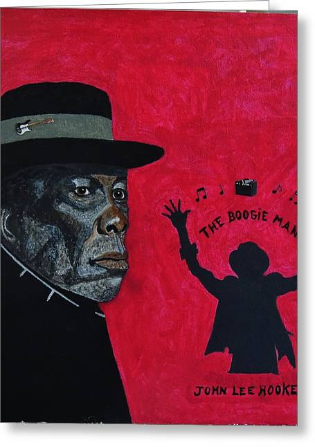 The Boogie Man.john Lee Hooker. Greeting Card by Ken Zabel