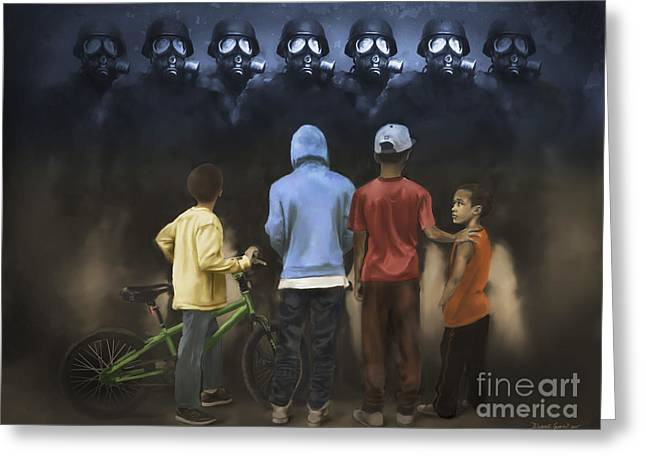 Greeting Card featuring the digital art The Boogie Men by Dwayne Glapion