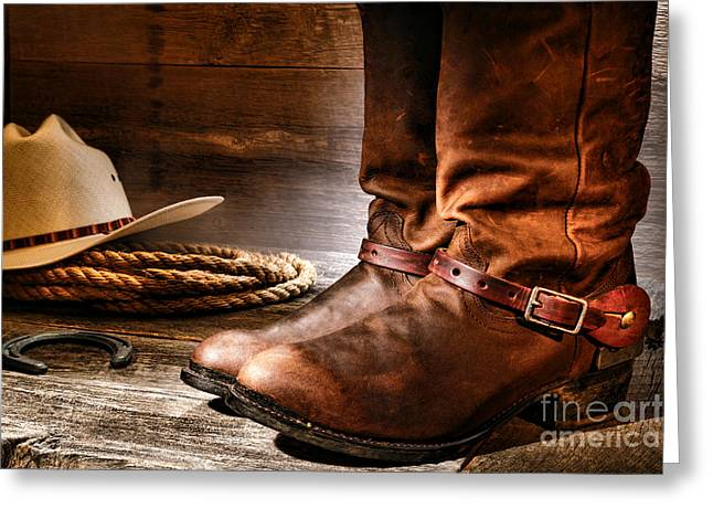 The Boots Greeting Card by Olivier Le Queinec