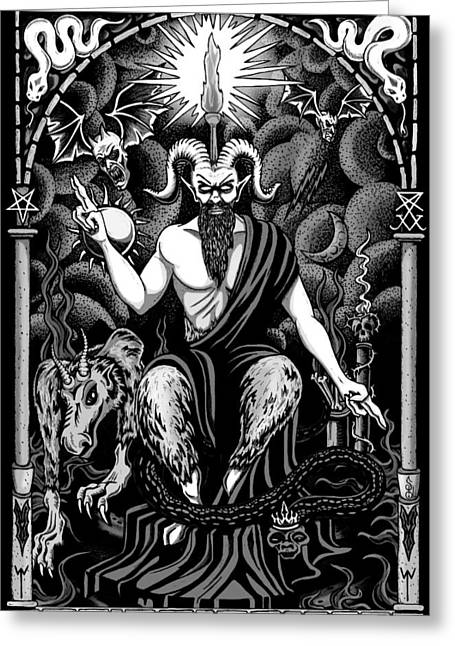 The Boss Blackwhite Greeting Card by Steve Hartwell