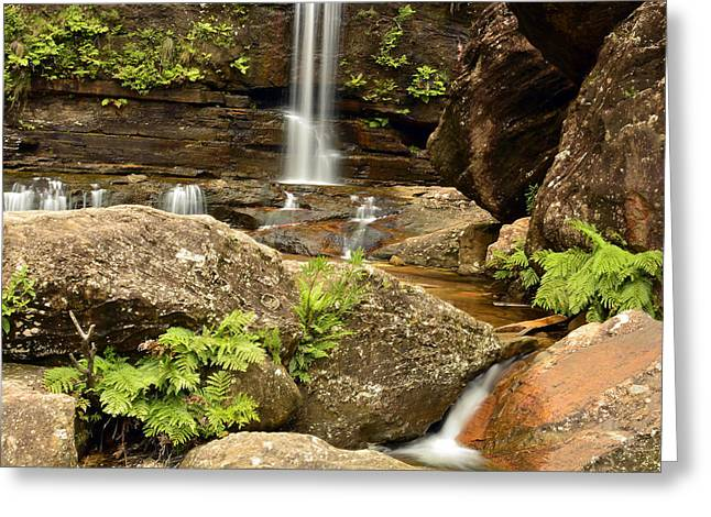 The Bottom Falls Greeting Card by Terry Everson