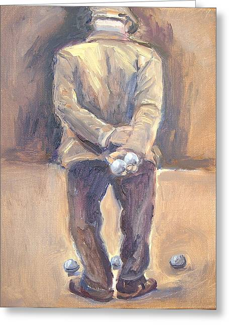 The Boule Player Greeting Card