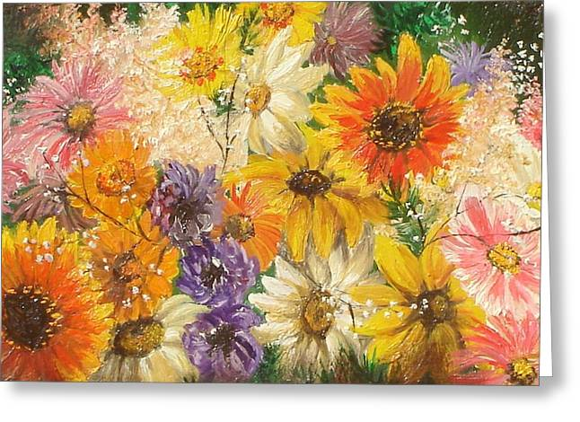 The Bouquet Greeting Card by Sorin Apostolescu