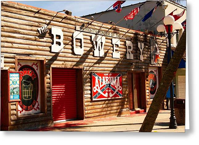 The Bowery Myrtle Beach Greeting Card