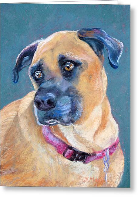 Greeting Card featuring the pastel The Boxer by Julie Maas
