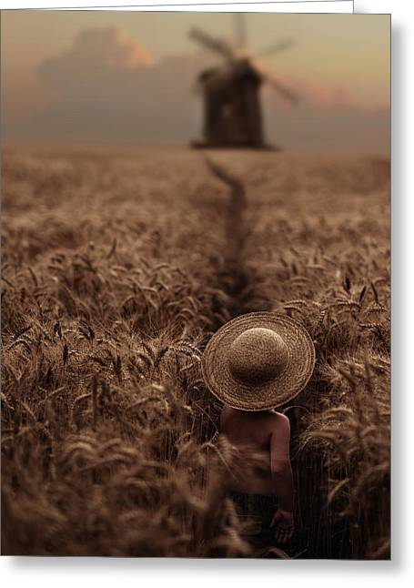 The Boy In The Field Greeting Card