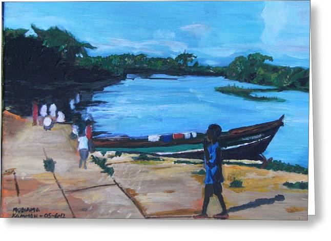 The Boy Porter  Sierra Leone Greeting Card