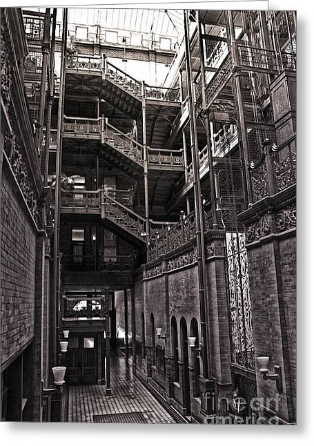 The Bradbury Building Greeting Card by Gregory Dyer