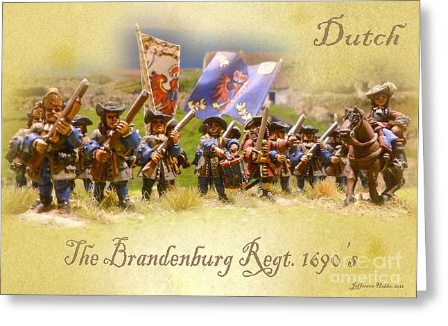 The Brandenburg Regiment Greeting Card by Jefferson Hobbs