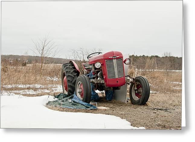 The Brave Little Tractor Greeting Card by Eugene Bergeron