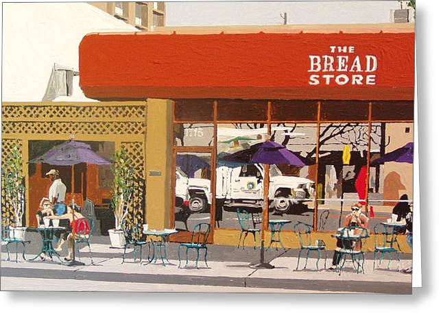 The Bread Store In Midtown Greeting Card by Paul Guyer