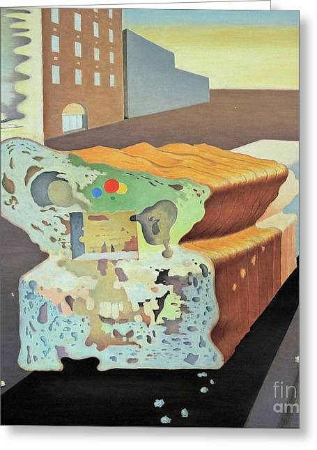 The Bread Truck Greeting Card by Ben Sapia