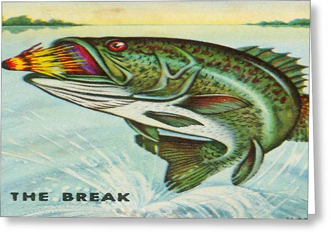 Greeting Card featuring the digital art The Break by Cathy Anderson