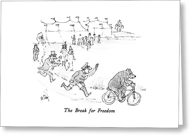 The Break For Freedom Greeting Card
