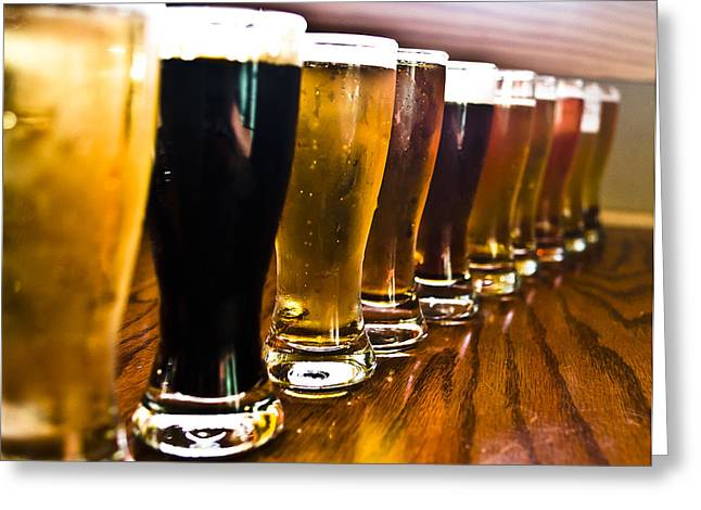 The Brew Line Up Greeting Card