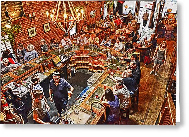 The Brick Store Pub Greeting Card by Paul Mashburn