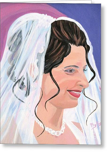 The Bride Greeting Card by Phyllis Kaltenbach